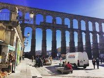 Acueducto de Segovia Fotografie Stock Libere da Diritti