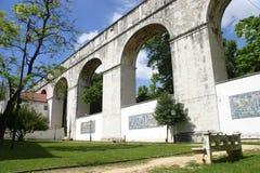 Acueducto en Lisboa foto de archivo libre de regalías
