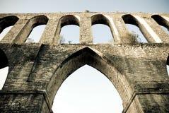 Acueducto en Portugal Imagen de archivo libre de regalías