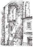 Acueducto en Portugal Foto de archivo libre de regalías