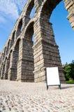 Acueducto en Segovia, España Imágenes de archivo libres de regalías