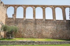Acueducto en Serpa, Portugal Imagenes de archivo