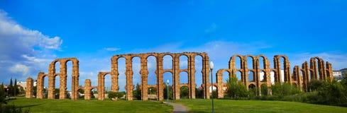 Acueducto Los Milagros Merida Badajoz akvedukt Arkivfoton