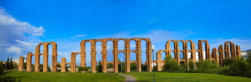 Acueducto Los Milagros Merida Badajoz akwedukt Zdjęcia Stock