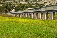 Acueducto, Malta Gozo Imágenes de archivo libres de regalías