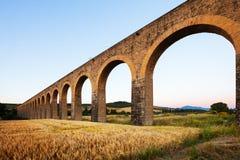 Acueducto in Navarra. Spanien Stockfotografie