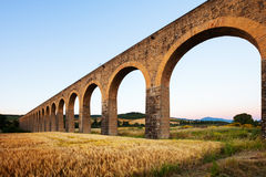 Acueducto in Navarre. Spain Stock Photography