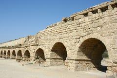 Acueducto romano en Israel Imágenes de archivo libres de regalías