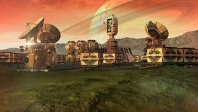 Acuerdo científico en un planeta árido ilustración del vector