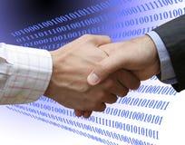 Acuerdo con tecnología Imagenes de archivo