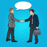 Acuerdo de Art Businessmen Shaking Hands Business del estallido ilustración del vector