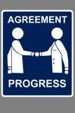 Acuerdo de comercialización stock de ilustración