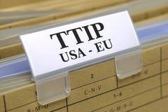 Acuerdo de libre comercio de TTIP Imágenes de archivo libres de regalías