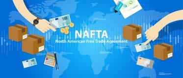 Acuerdo de libre comercio del NAFTA norteamericano Fotos de archivo