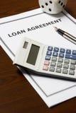 Acuerdo de préstamo Foto de archivo