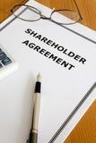 Acuerdo del accionista Imagen de archivo libre de regalías