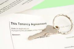 Acuerdo del arrendatario imagenes de archivo
