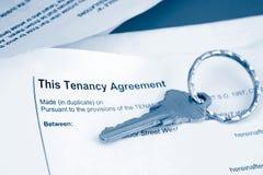 Acuerdo del arrendatario Imagen de archivo