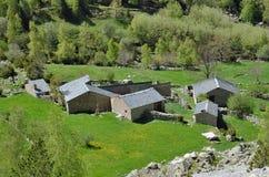 Acuerdo en el valle de la montaña, Andorra del verano Foto de archivo libre de regalías