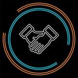 Acuerdo, icono del apretón de manos ilustración del vector
