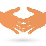 Acuerdo y un apretón de manos stock de ilustración