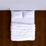 Acueste con almohadas y una manta en el cuarto de la esquina, ejemplo 3d stock de ilustración