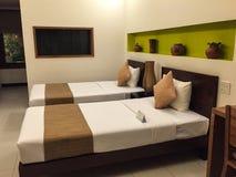 Acueste el sitio en el hotel en Haifong, Vietnam Foto de archivo libre de regalías