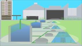 Acuicultura, idea elegante de la industria Industrias elegantes ilustración del vector