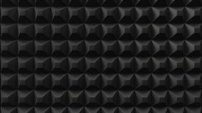 Acuistic-Schaum bedeckte Wand stilles Raumkonzept Abbildung 3D lizenzfreie abbildung