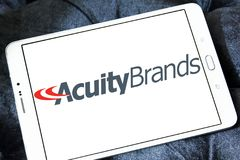 Acuity Brands logo. Logo of Acuity Brands on samsung tablet . Acuity Brands is an electronics manufacturing company Royalty Free Stock Image