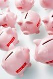 Acumulação de bancos Piggy imagem de stock