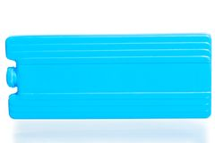 Acumulador frio para os thermobags azuis Foto de Stock Royalty Free
