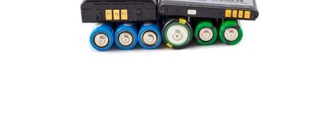 Acumuladores y baterías imagen de archivo
