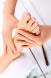 Acupressure, Fußmassage Lizenzfreies Stockfoto