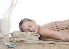 Acupressure-Massage Stockfoto