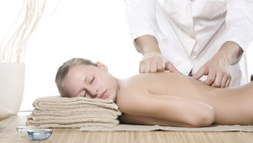 Acupressure-Massage Stockbild
