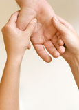 acupressure ręka Fotografia Royalty Free
