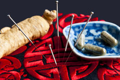 Acupunctura Fotos de Stock