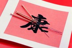 Acupunctura e saúde Imagem de Stock