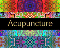 Acupuncture alternative therapy Royalty Free Stock Images