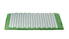 Acupuncture mat for treatment in orthopedics. For spine Stock Photography