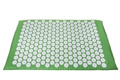Acupuncture mat for treatment in orthopedics. For spine Royalty Free Stock Image