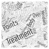 Acupuncture for Migraines word cloud concept Royalty Free Illustration