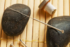 Acupuncture needle Stock Photography