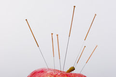 Acupuncture needle. Medical devices, the traditional Chinese medicine Stock Image