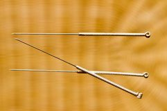 Acupuncture needle Royalty Free Stock Image