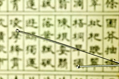 Acupuncture needle Royalty Free Stock Images