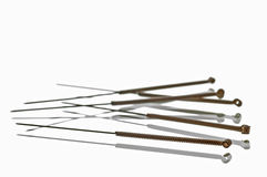 Acupuncture needles Stock Photo