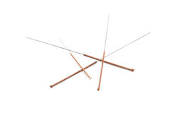 Acupuncture needles Stock Image