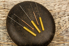 Acupuncture needles Royalty Free Stock Image